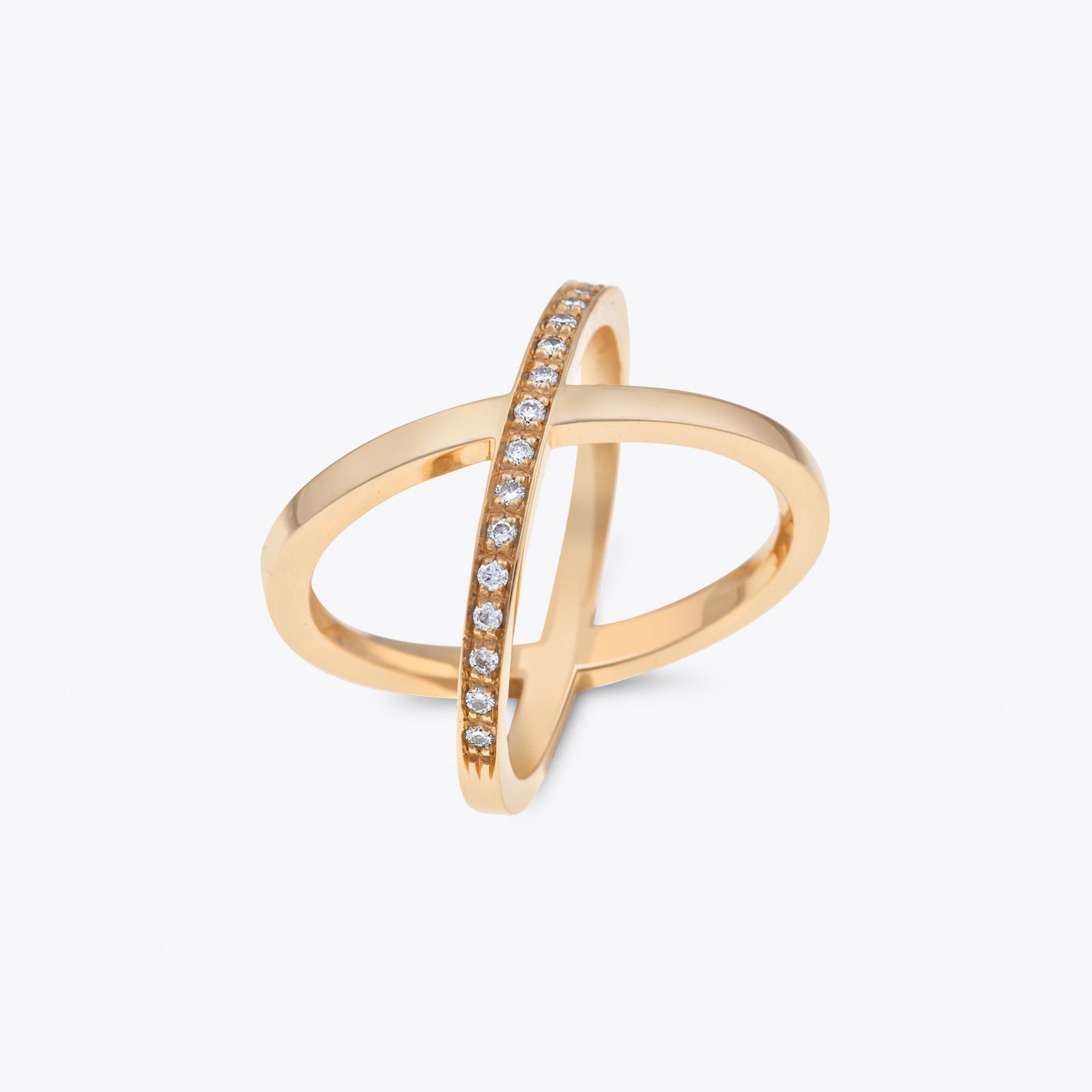 Anello Armonia in oro giallo e diamanti