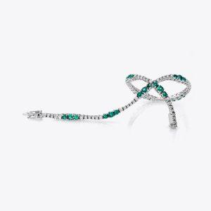Bracciale Acquerello con smeraldi