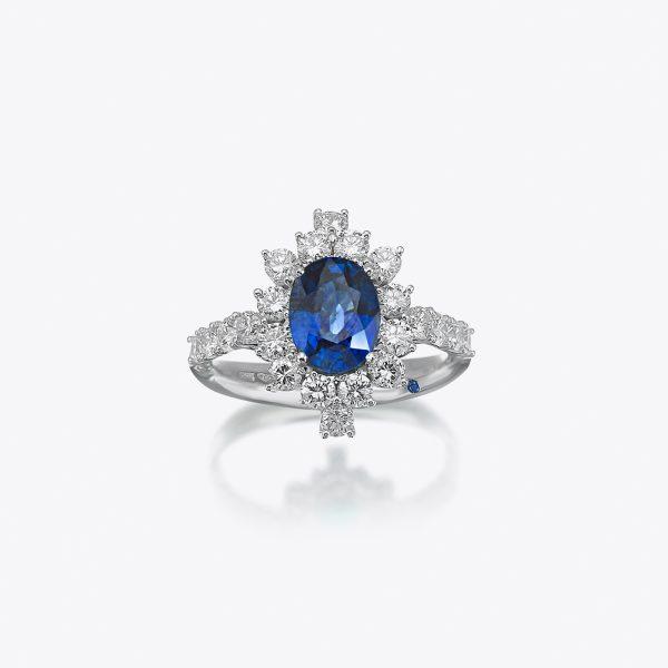 Anello True Colors Diamanti e Zaffiro