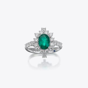Anello True Colors Diamanti e Smeraldo