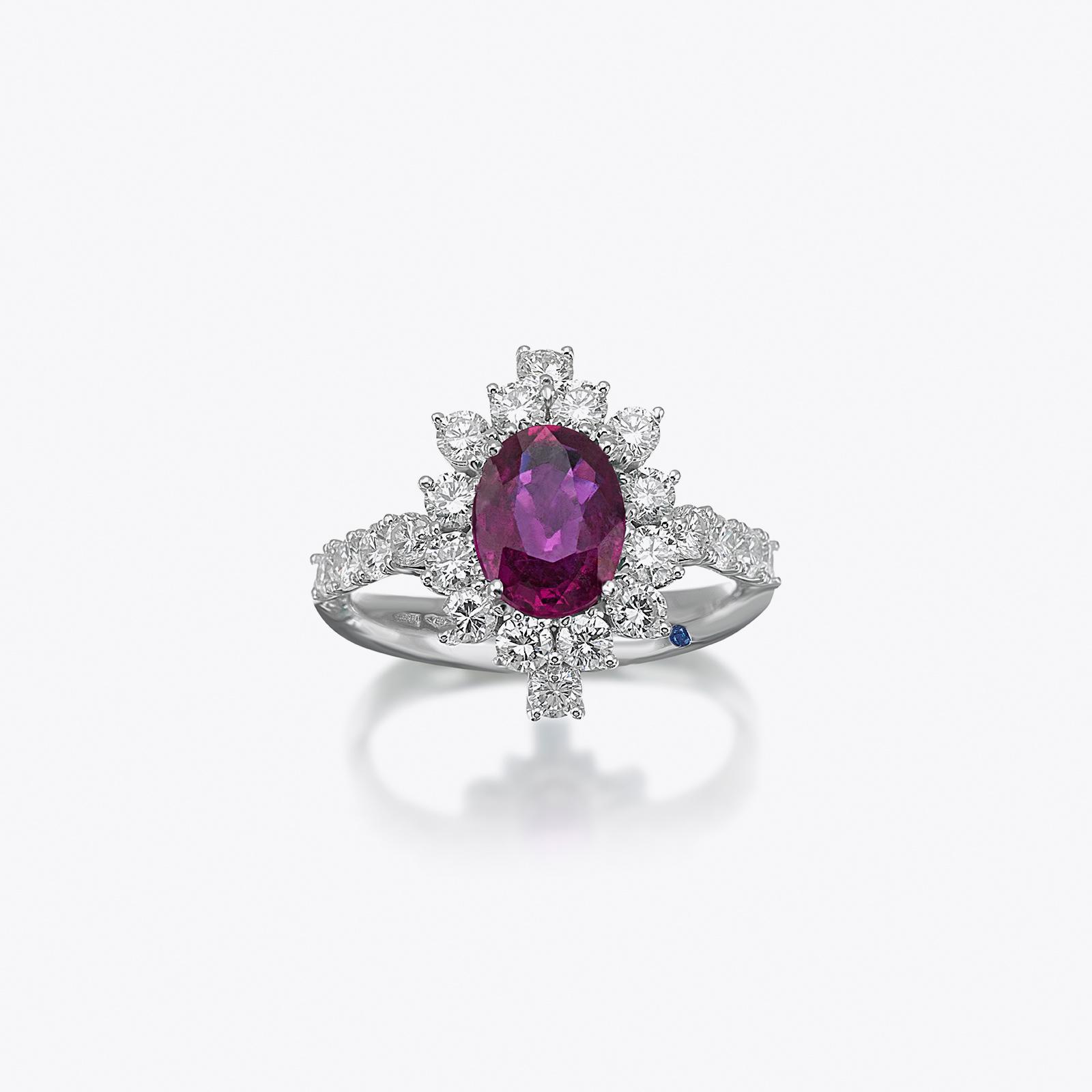Anello True Colors Diamanti e Rubino