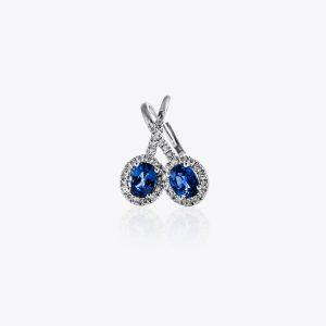 Orecchini Acquerello Diamanti e Zaffiri