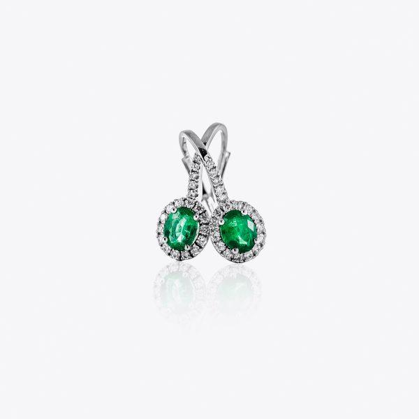 Orecchini Acquerello Diamanti e Smeraldi
