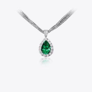 Pendant Acquerello con smeraldo