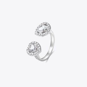Anello con diamanti Heart&Drop