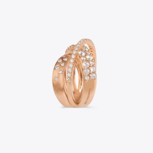 Anello Belle Epoque oro rosa e diamanti